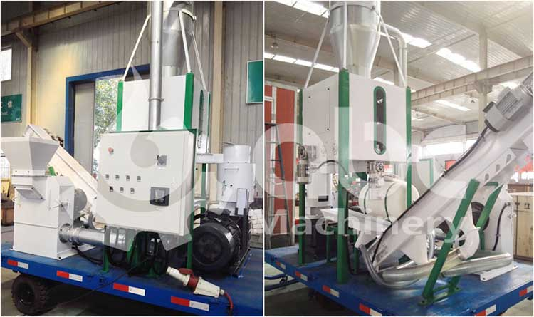 MPL400 mobile small pellet plant