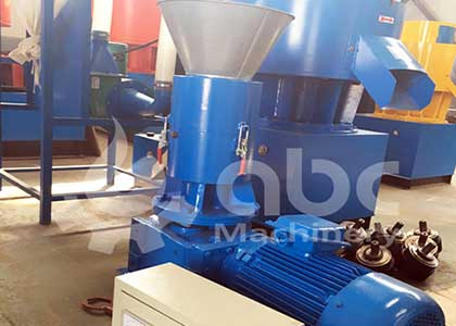 Biomass Pelletizing Machine For Rice Husk Production Order By French Customer