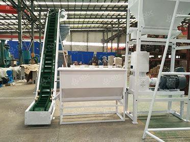 conveyor cooler  and pellet mill in cattle feed plant