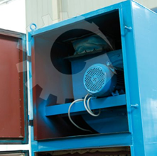 dust collector of moveable biomass pellet mill plant
