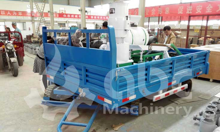 mobile small pellet plant exported to South Africa