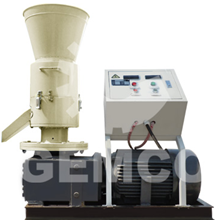 rotating roller biomass pellet mill with electric motor