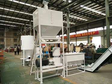 storage bin and pellet mill in cattle feed plant