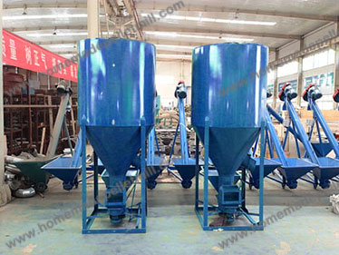 Vertical feed mixer with good structure