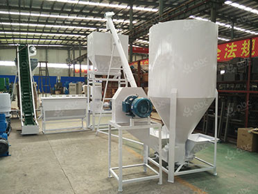 vertical mixer in cattle feed plant
