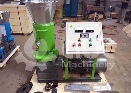 Thailand Client Customized A Green Version Wood Pellet Machine